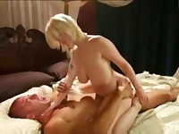 Guy with foot obsession fucking blond
