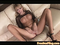 Hot Blonde Milf Jerilyn Paige Goes Solo
