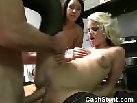 Blonde Fucked In Kitchen During Money Talks Stunt
