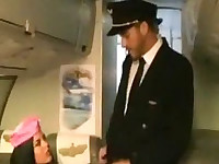 Stewardess Madison Parker Fucks 2 Guys