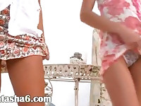 Two russian chicks naked garden