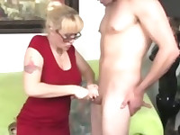 He loves her mature self all over his dick getting him off