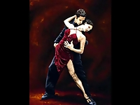 The Tango Dancers -  Paintings of Richard Young
