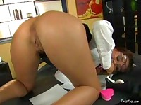 Secretary with dildo 3