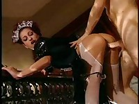 Rich man has to fuck sexy maid first