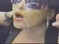 BIG CUMSHOT ON SUN GLASSES