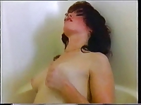 vintage lesbians having fun in bathtub