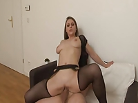 Emy Russo black stockings sex