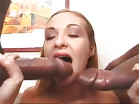 barbara voice with black dick in pussy and ass troia culo