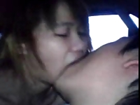 Amateur Asian Teens in Car 1