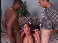FMM interracial dp fucking