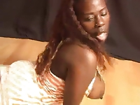 Sexy and Busty Black dancing and show her body for us