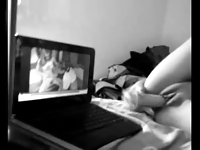 Dildo Masturbation Watching Porn